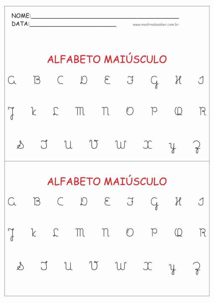 1 - Alfabeto Cursivo Maiúsculo