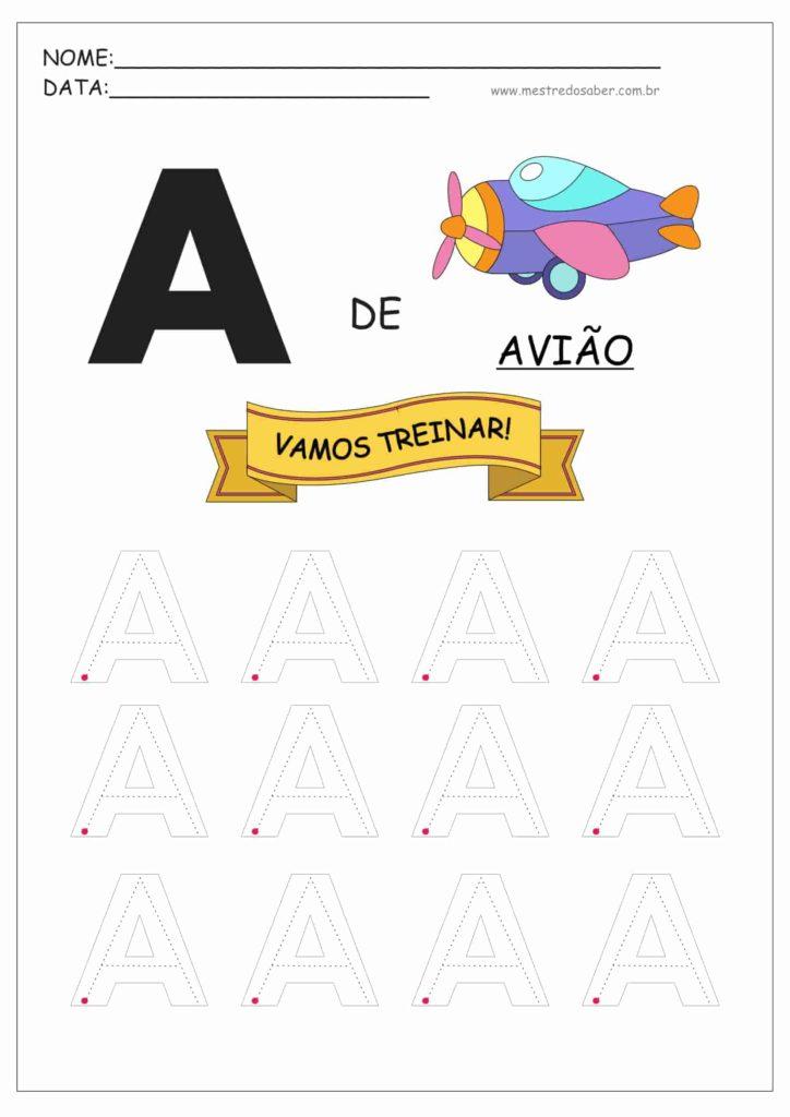 Letra A - Alfabeto Pontilhado para Imprimir