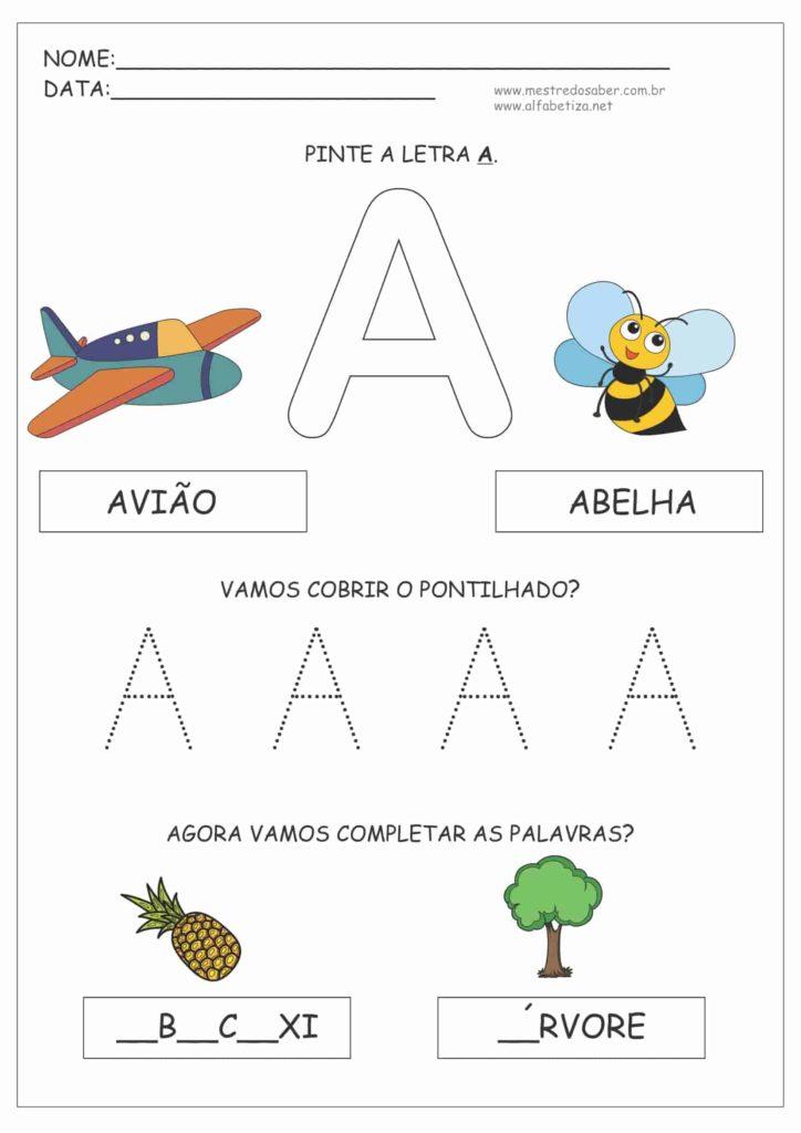 Letra A - Apostila Educação Infantil