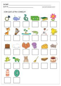 1 - Atividades com Alfabeto