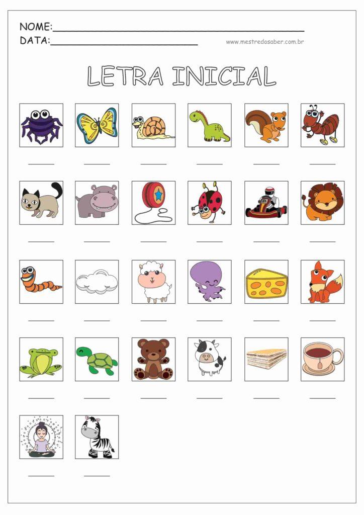 1 - Atividades de Alfabetização