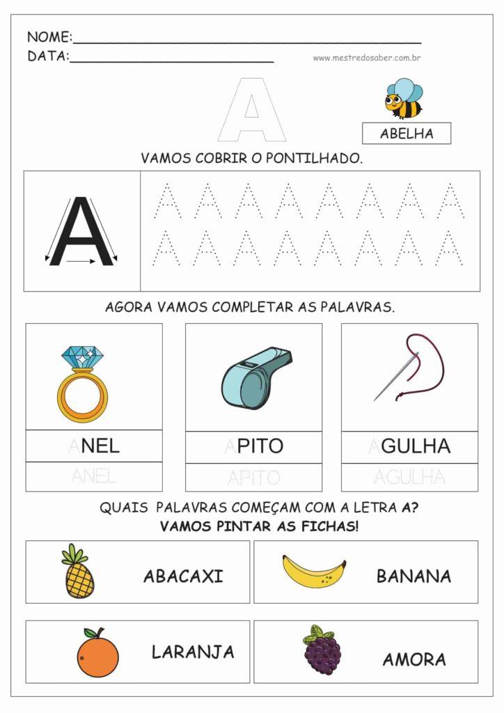 1 - Atividades de Alfabetização para Educação Infantil