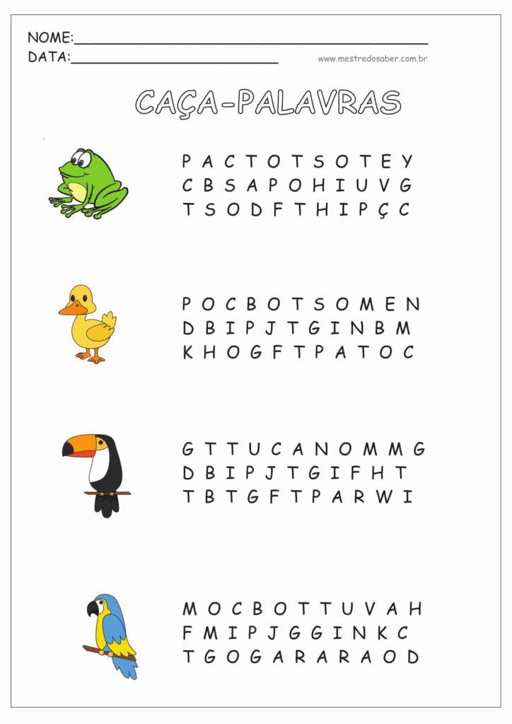1 - Atividades de Alfabetização para Imprimir