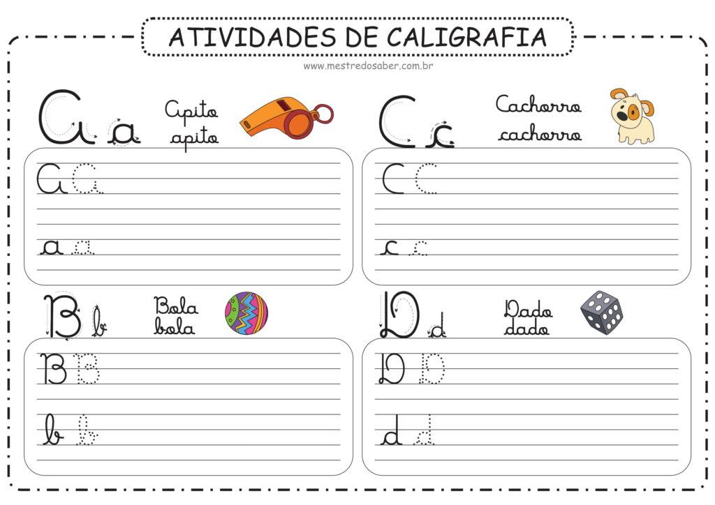 1 - Atividades de Caligrafia