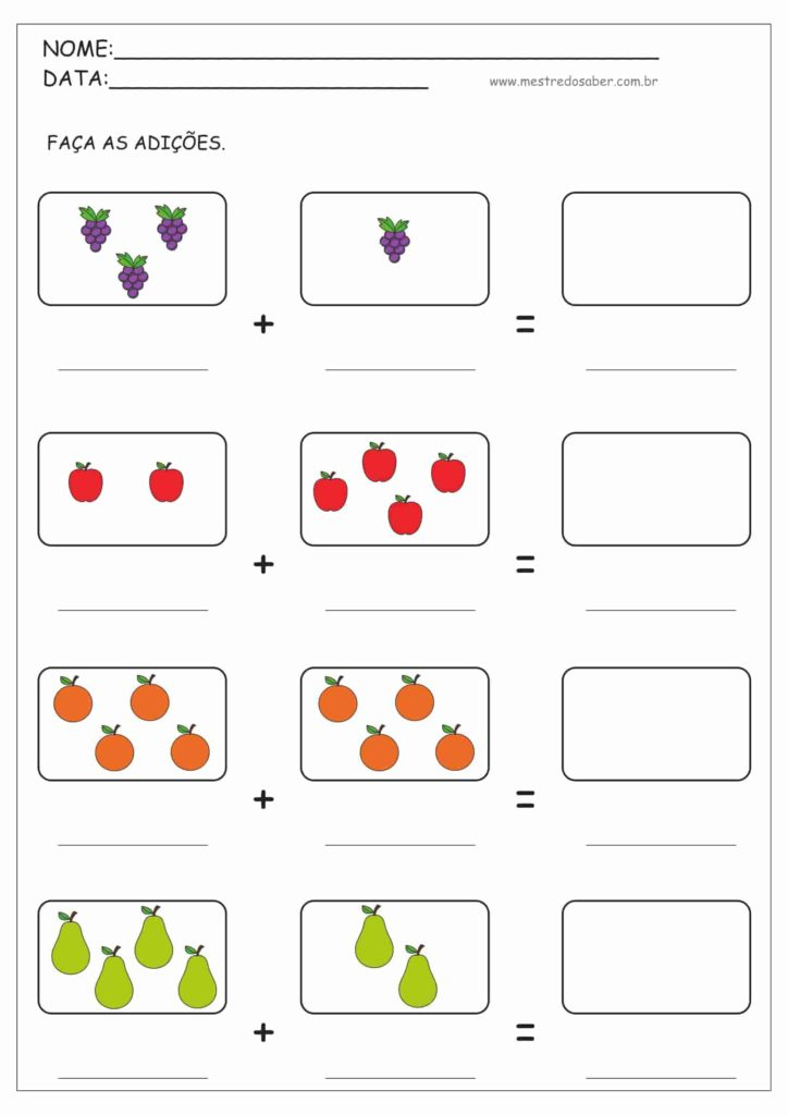 1 - Atividades de Matemática 1 ano