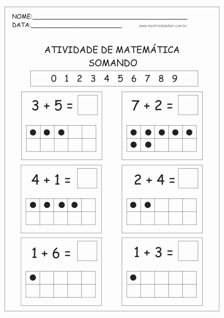 1 - Atividades de Matemática Educação Infantil