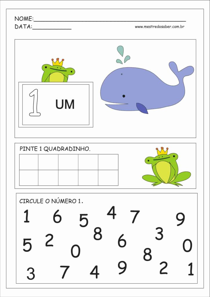 1 - Atividades Educação Infantil Números e Quantidades