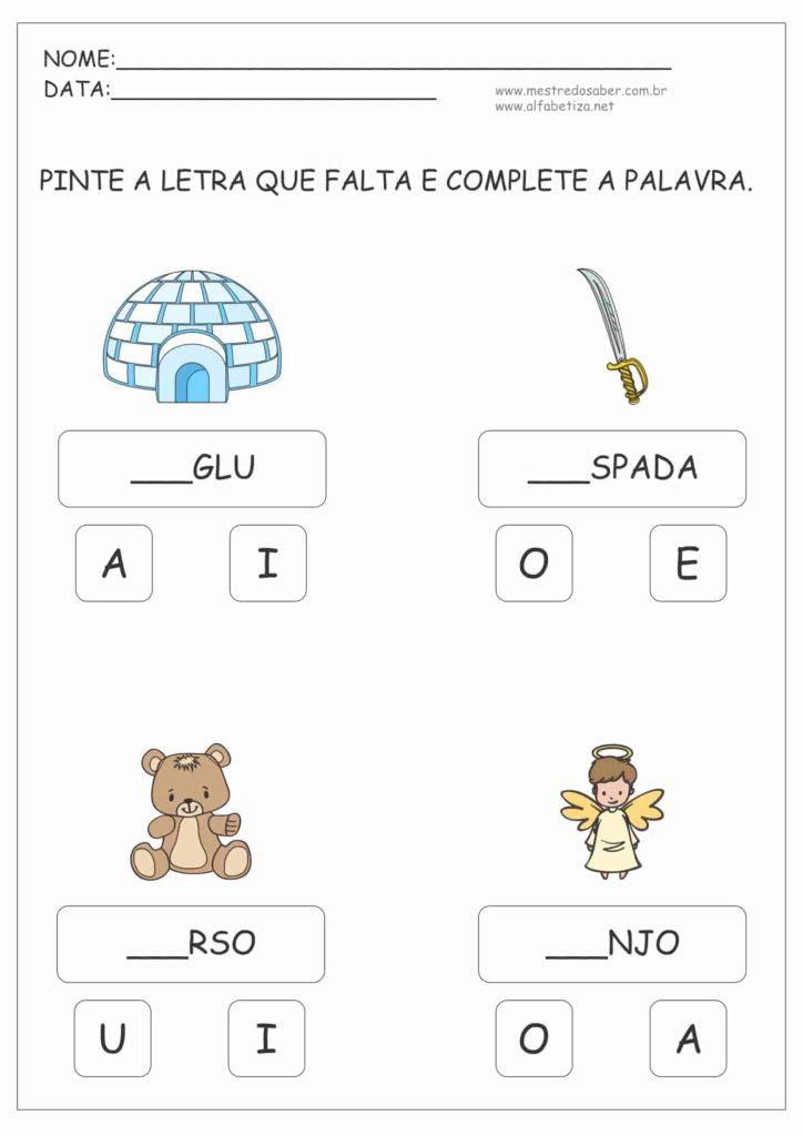 1 - Atividades para Alfabetização Infantil