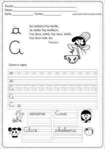 1 - Caderno de Caligrafia letra A