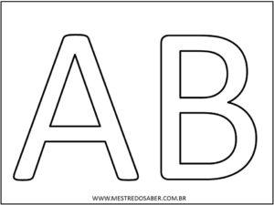 1 - Molde de Letras Grandes