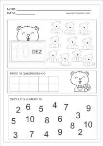 10 - Atividades com Números Educação Infantil