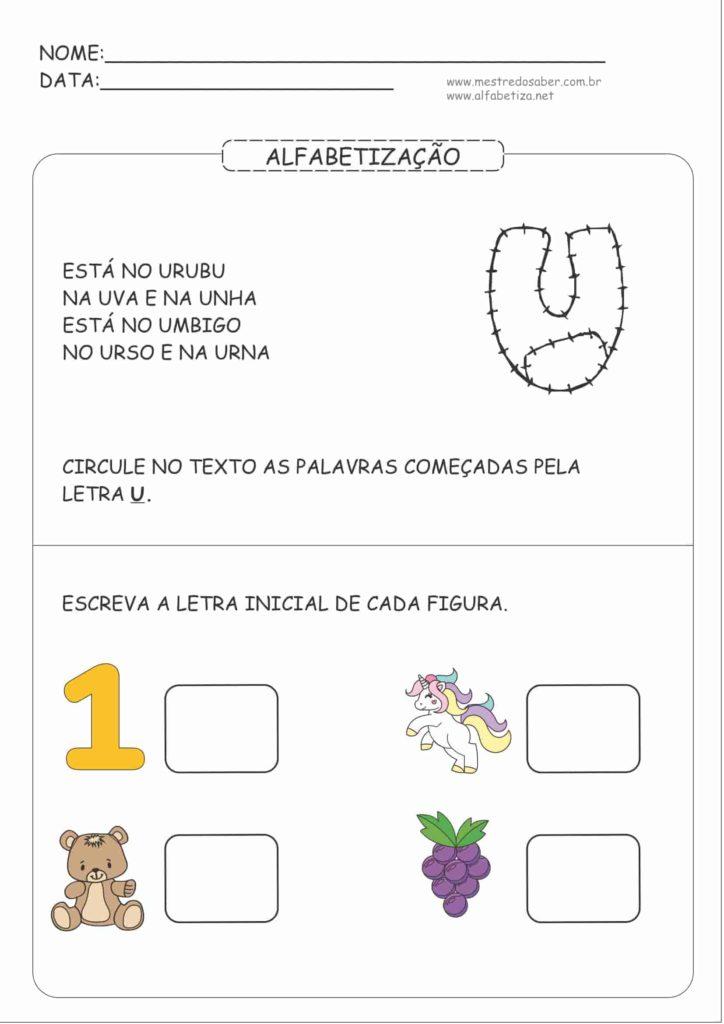 5 - Atividades de Alfabetização para Educação Infantil 5 anos