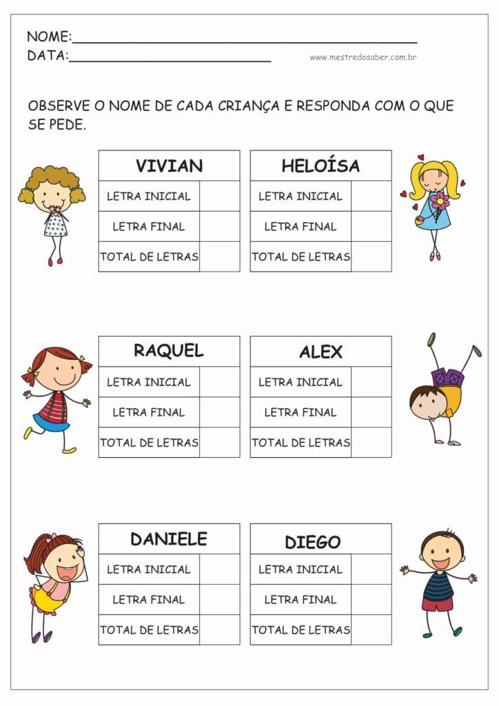 10 - Atividades de Alfabetização para Educação Infantil 5 anos