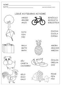 10 - Atividades de Português 1 ano