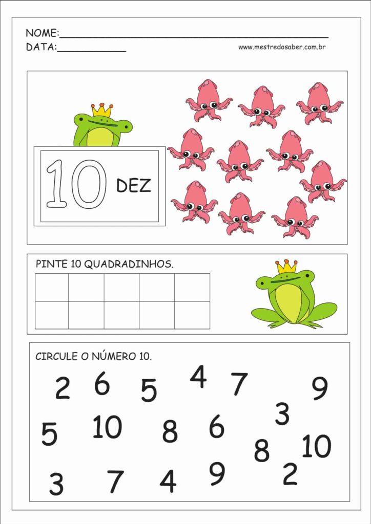 10 - Atividades Educação Infantil Números e Quantidades