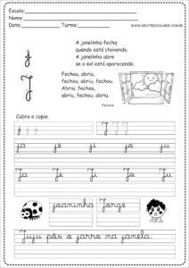 10 - Caderno de Caligrafia letra J
