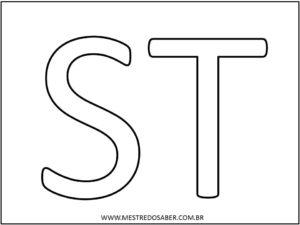 10 - Molde de Letras Grandes para Imprimir