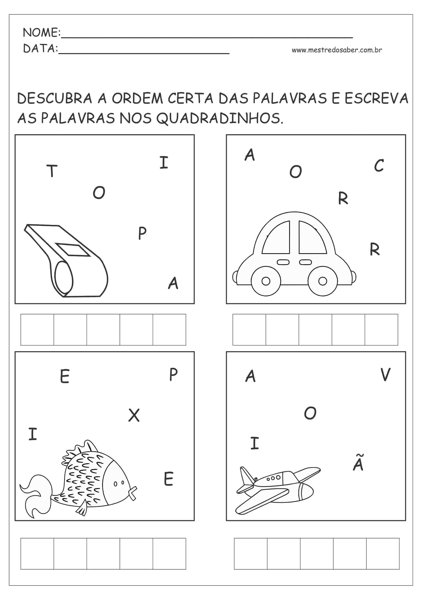 Atividade de linguagem infantil 5