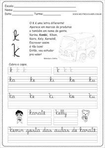 11 - Caderno de Caligrafia letra K