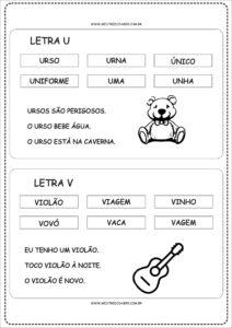 11 - Fichas de Leitura para imprimir