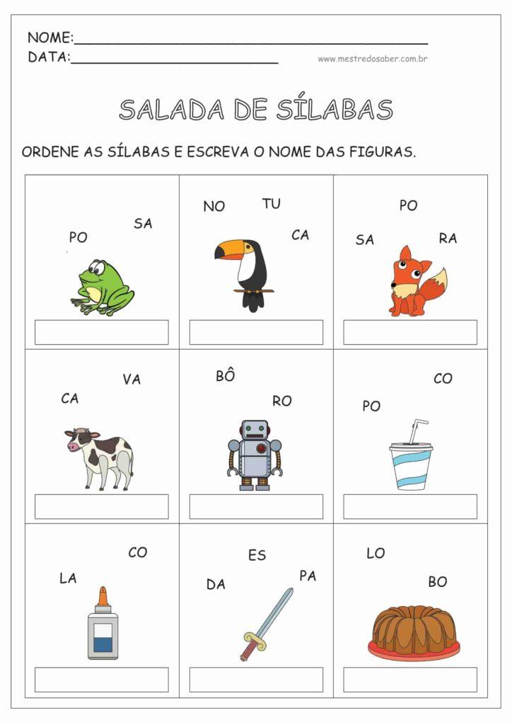 12 - Atividades de Alfabetização 1 ano
