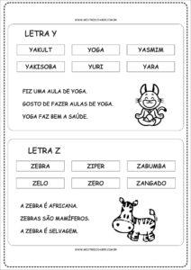 13- Fichas de Leitura para imprimir