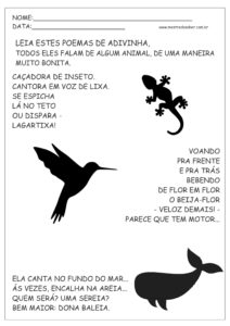 14 - Atividades de Português 1 ano Alfabetização
