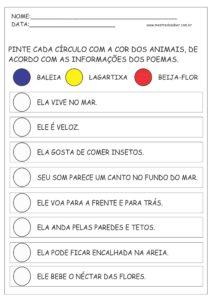 15 - Atividades de Português 1 ano Alfabetização