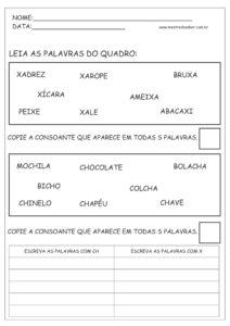 16 - Atividades de Português 1 ano Alfabetização