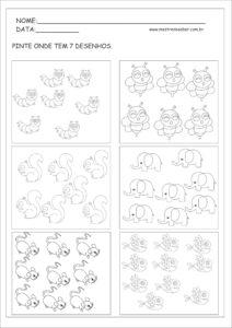 17 - Atividade de Matemática Educação Infantil
