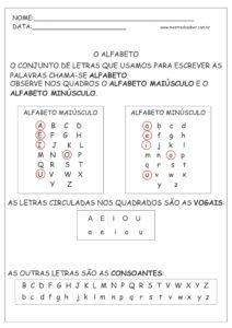 18 - Atividades de Português 1 ano Alfabetização