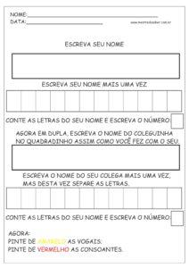 19 - Atividades de Português 1 ano Alfabetização