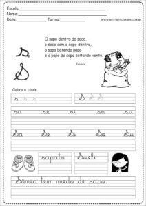 19 - Caderno Caligrafia letra S