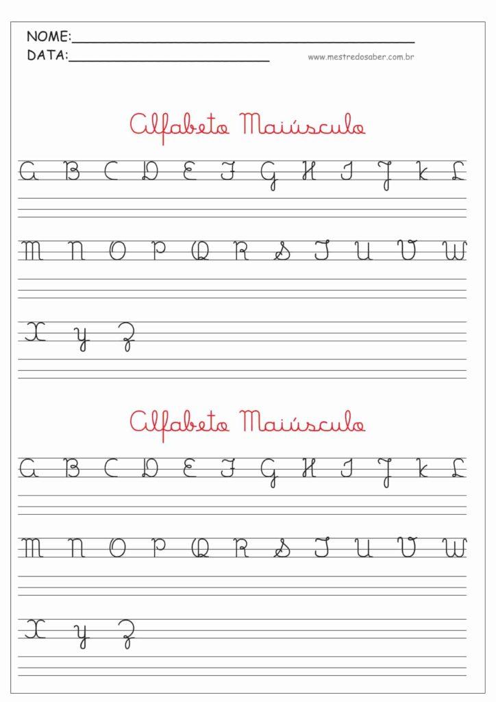 2 - Alfabeto Cursivo Maiúsculo