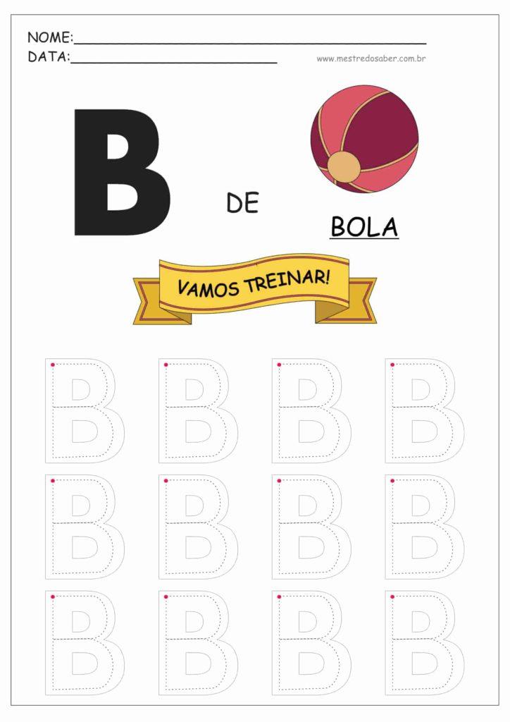Letra B - Alfabeto Pontilhado para Imprimir
