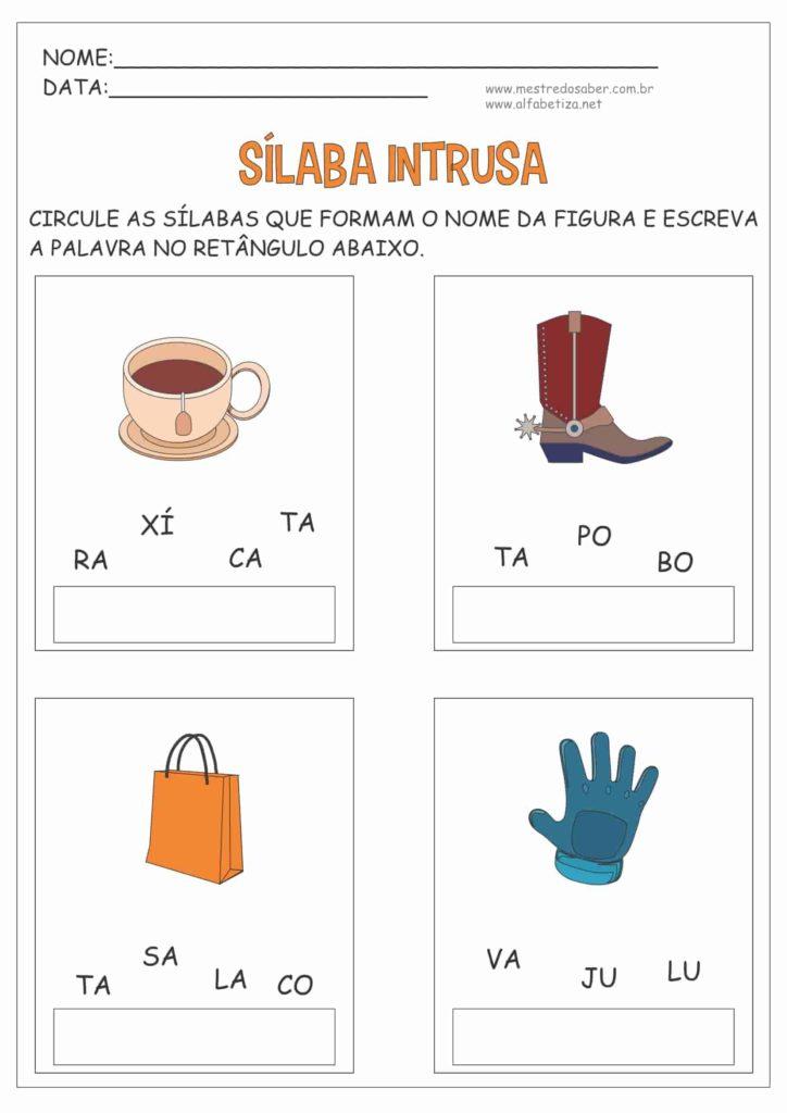 2 - Atividades com Sílabas para Alfabetização