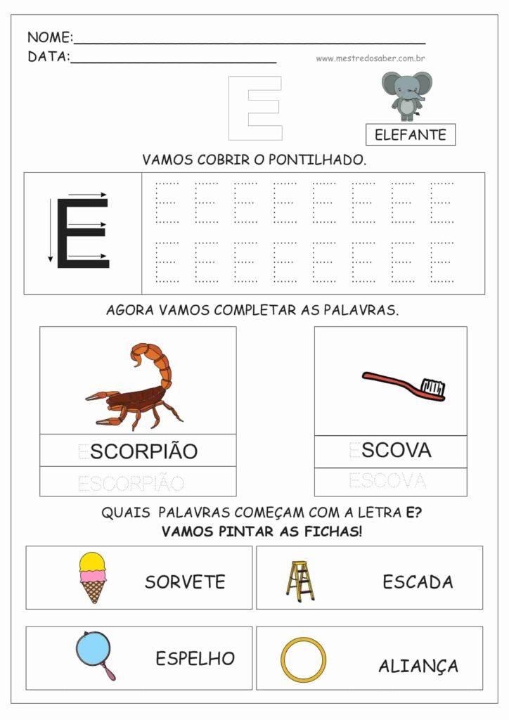 2 - Atividades de Alfabetização para Educação Infantil