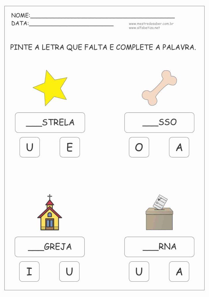 2 - Atividades para Alfabetização Infantil