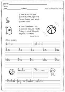 2 - Caderno de Caligrafia letra B