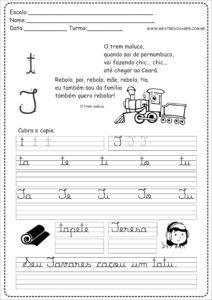 20 - Caderno Caligrafia letra T