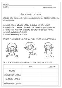 21 - Atividades de Português 1 ano Alfabetização