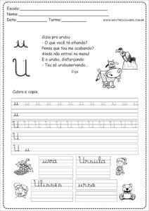 21 - Caderno Caligrafia letra U