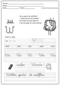 23 - Caderno Caligrafia letra W