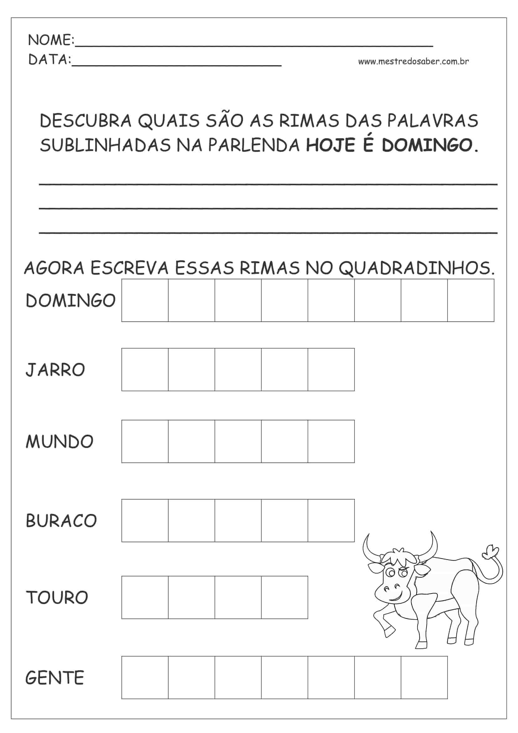30 Atividades de Português 1 ano - Mestre do Saber