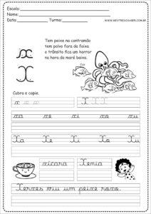24 - Caderno Caligrafia letra X