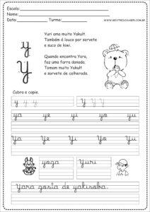 25 - Caderno Caligrafia letra Y