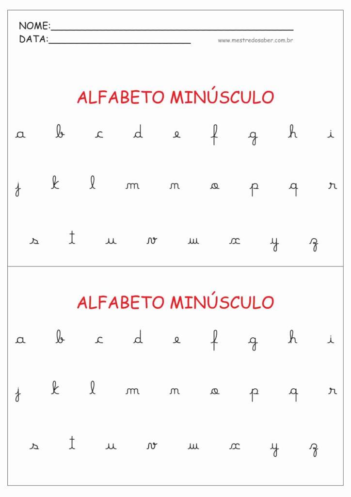 3 - Alfabeto Cursivo Minúsculo