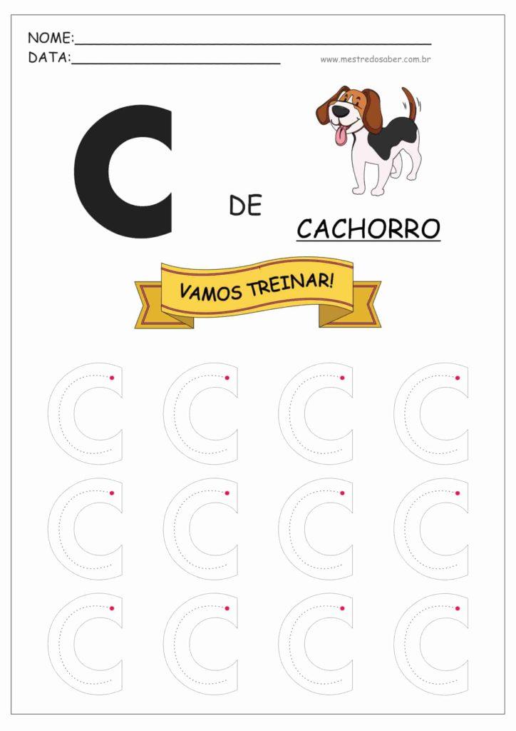 Letra C - Alfabeto Pontilhado para Imprimir