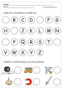 3 - Atividades com Alfabeto