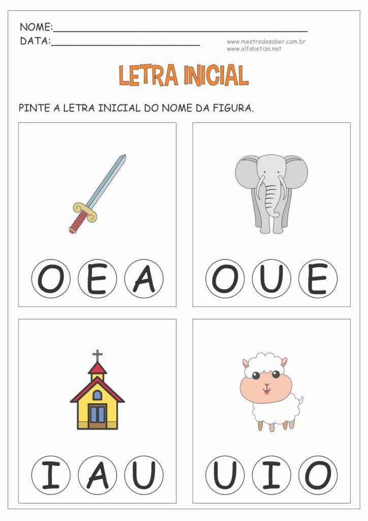 3 - Atividades com Letra Inicial para Educação Infantil